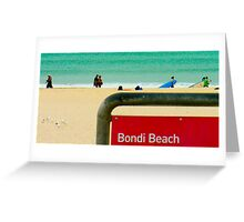 bondi beach, sydney, australia - anthony sarow  Greeting Card