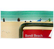 bondi beach, sydney, australia - anthony sarow  Poster