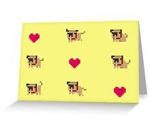 Pixel pug Greeting Card