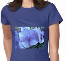 Blue Lacecap Hydrangea Macro Womens Fitted T-Shirt