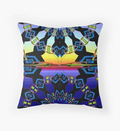 Sunset pattern Throw Pillow