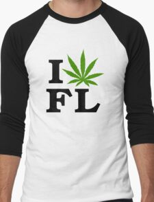 I Love Florida Marijuana Cannabis Weed  Men's Baseball ¾ T-Shirt