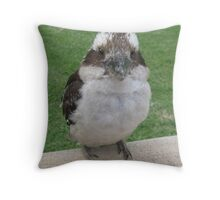 A Visitor to our Christmas Party. Throw Pillow