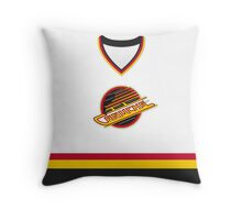 Vancouver Canucks 1989-97 Home Jersey Throw Pillow
