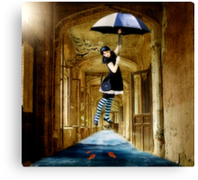 Learning to Fly.... Canvas Print
