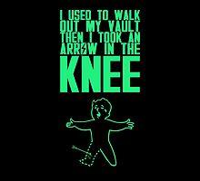 Vault Boy - Knee (ENG) - Green by Nemesis666first