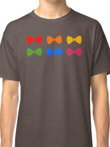 Rainbow Bows Pattern Classic T-Shirt