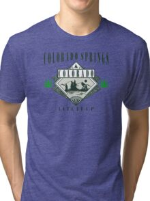 "Marijuana Colorado Springs ""Lite It Up"" Tri-blend T-Shirt"