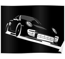 Porsche 911 GT2 Night Poster