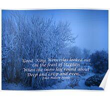 Good King Wenceslas  Christmas Card Poster