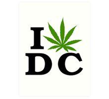 I Love Washington D.C. Marijuana Cannabis Weed  Art Print