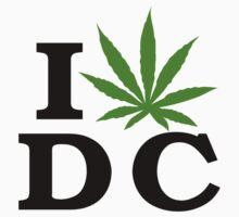 I Love Washington D.C. Marijuana Cannabis Weed  by MarijuanaTshirt