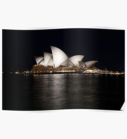 Sydney Opera House At Night. Poster