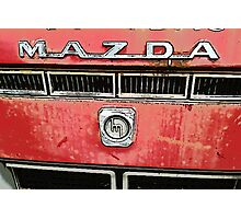 The Mazda Red Truck Photographic Print