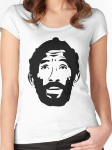 Lee Scratch Perry Reggae Stencil Women's Fitted Scoop T-Shirt