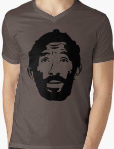 Lee Scratch Perry Reggae Stencil Mens V-Neck T-Shirt