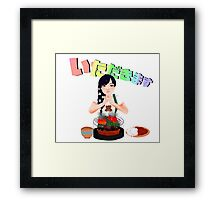 Let's eat! Framed Print