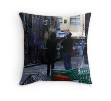 """Jim, it's art, but not as we know it"" Throw Pillow"