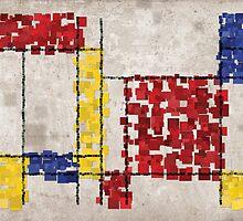 Mondrian Inspired Squares by Michael Tompsett