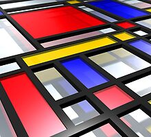 Mondrian Inspired 3D by Michael Tompsett