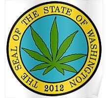 Washington Marijuana Cannabis Weed Poster