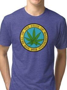 Washington Marijuana Cannabis Weed Tri-blend T-Shirt