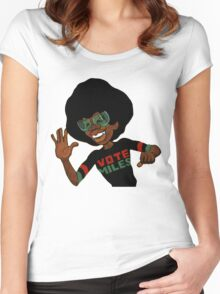 Vote For Miles Davis Jazz Women's Fitted Scoop T-Shirt