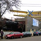 Museum of Transportation from outside, Budapest/Hungary.2010Nov by ambrusz