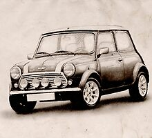 Mini Copper Sketch by Michael Tompsett