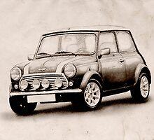 Mini Copper Sketch by Michael Tompsett