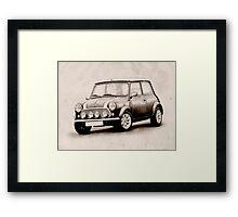 Mini Copper Sketch Framed Print