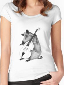 Cellist Boar Women's Fitted Scoop T-Shirt