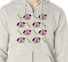 Wrinkle Dog Zipped Hoodie