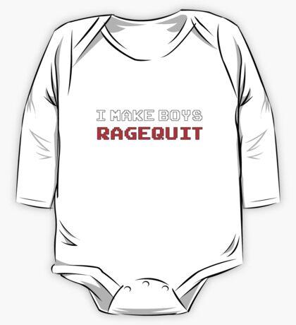 I Make Boys RAGEQUIT One Piece - Long Sleeve