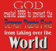 God, Beer & the Detroit Tigers for Dark Backgrounds One Piece - Long Sleeve