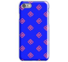 Swirlies - Pink and Blue iPhone Case/Skin
