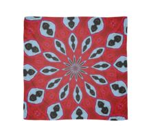 Patterned Kaleidoscope in Red and Light Blue Scarf
