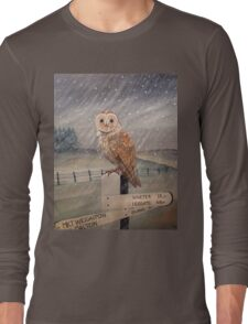 Waiting for the storm to pass.... Long Sleeve T-Shirt