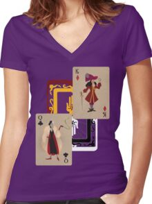 The Psychotic Narcissists Women's Fitted V-Neck T-Shirt