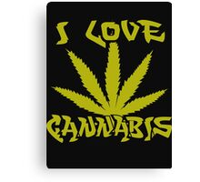 I Love Cannabis Canvas Print