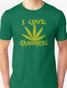 I Love Cannabis Unisex T-Shirt