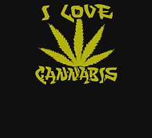 I Love Cannabis Womens Fitted T-Shirt