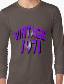 Vintage 1971 Long Sleeve T-Shirt