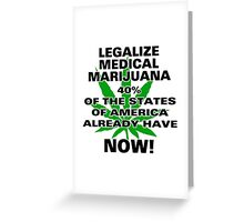 Legalize Medical Marijuana NOW! Greeting Card