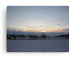 Snowy sunset1 Canvas Print
