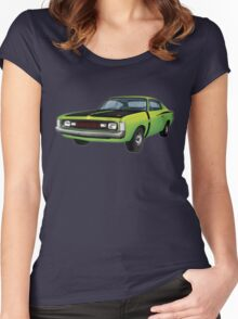Chrysler Valiant VH Charger - Green Go Women's Fitted Scoop T-Shirt