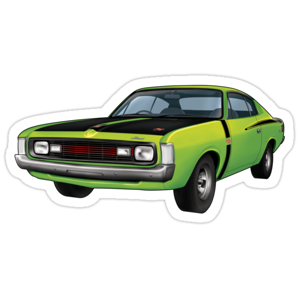 Chrysler Valiant VH Charger - Green Go by tshirtgarage