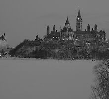 Downtown Ottawa - Winter 2008 by Josef Pittner
