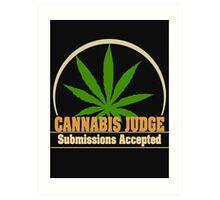 Funny Cannabis Art Print