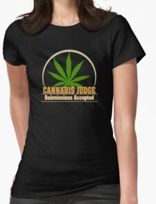 Funny Cannabis Womens Fitted T-Shirt